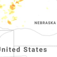 Regional Hail Map for North Platte, NE - Sunday, June 13, 2021