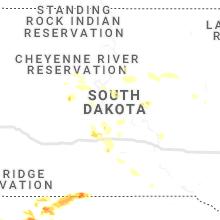 Regional Hail Map for Pierre, SD - Sunday, June 13, 2021