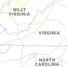 Regional Hail Map for Roanoke, VA - Sunday, June 13, 2021