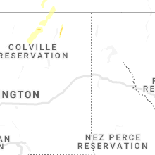 Regional Hail Map for Spokane, WA - Sunday, June 13, 2021