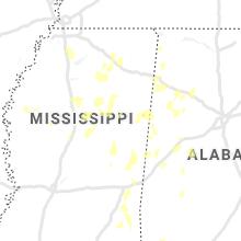 Regional Hail Map for Starkville, MS - Sunday, June 13, 2021