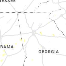 Regional Hail Map for Atlanta, GA - Monday, June 14, 2021