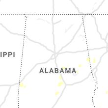 Regional Hail Map for Birmingham, AL - Monday, June 14, 2021