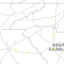 Regional Hail Map for Greenville, SC - Monday, June 14, 2021