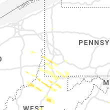 Regional Hail Map for Pittsburgh, PA - Monday, June 14, 2021