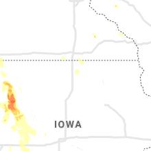 Regional Hail Map for Mason City, IA - Wednesday, June 16, 2021