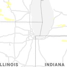 Regional Hail Map for Chicago, IL - Thursday, June 17, 2021