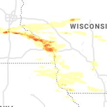 Regional Hail Map for La Crosse, WI - Thursday, June 17, 2021