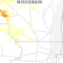 Regional Hail Map for Madison, WI - Thursday, June 17, 2021