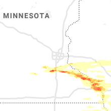 Regional Hail Map for Minneapolis, MN - Thursday, June 17, 2021