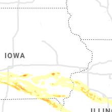 Regional Hail Map for Cedar Rapids, IA - Friday, June 18, 2021