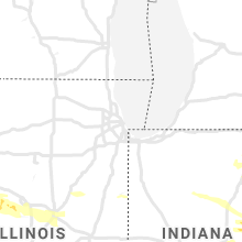 Regional Hail Map for Chicago, IL - Friday, June 18, 2021