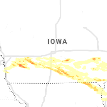 Regional Hail Map for Des Moines, IA - Friday, June 18, 2021