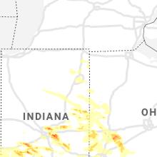 Regional Hail Map for Fort Wayne, IN - Friday, June 18, 2021