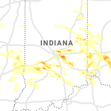 Regional Hail Map for Indianapolis, IN - Friday, June 18, 2021