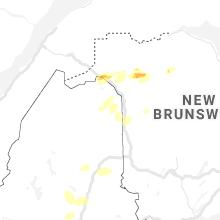 Regional Hail Map for Caribou, ME - Saturday, June 19, 2021