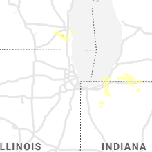 Regional Hail Map for Chicago, IL - Saturday, June 19, 2021