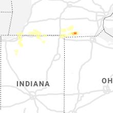 Regional Hail Map for Fort Wayne, IN - Saturday, June 19, 2021