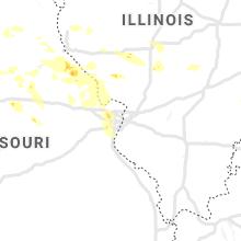 Regional Hail Map for Saint Louis, MO - Saturday, June 19, 2021