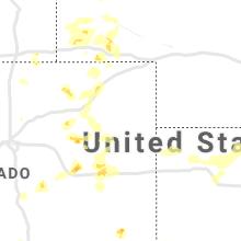Regional Hail Map for Yuma, CO - Saturday, June 19, 2021