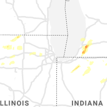 Regional Hail Map for Chicago, IL - Sunday, June 20, 2021