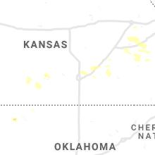 Regional Hail Map for Wichita, KS - Sunday, June 20, 2021