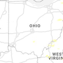 Regional Hail Map for Columbus, OH - Monday, June 21, 2021