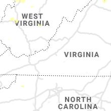 Regional Hail Map for Roanoke, VA - Monday, June 21, 2021