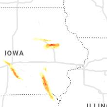 Regional Hail Map for Cedar Rapids, IA - Tuesday, June 22, 2021