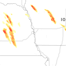 Regional Hail Map for Omaha, NE - Tuesday, June 22, 2021