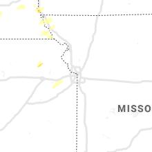 Regional Hail Map for Kansas City, MO - Wednesday, June 23, 2021