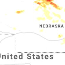 Regional Hail Map for North Platte, NE - Wednesday, June 23, 2021