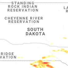 Regional Hail Map for Pierre, SD - Wednesday, June 23, 2021