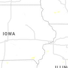 Regional Hail Map for Cedar Rapids, IA - Thursday, June 24, 2021