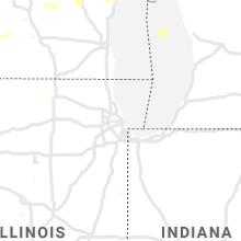 Regional Hail Map for Chicago, IL - Thursday, June 24, 2021