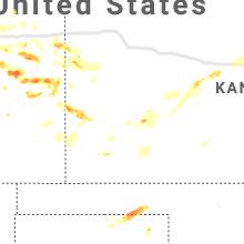 Regional Hail Map for Garden City, KS - Thursday, June 24, 2021