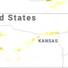 Regional Hail Map for Hays, KS - Thursday, June 24, 2021
