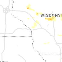 Regional Hail Map for La Crosse, WI - Thursday, June 24, 2021
