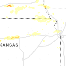 Regional Hail Map for Manhattan, KS - Thursday, June 24, 2021