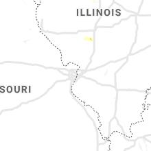 Regional Hail Map for Saint Louis, MO - Thursday, June 24, 2021