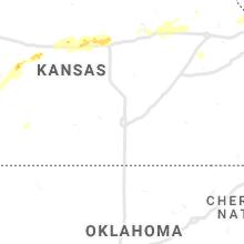 Regional Hail Map for Wichita, KS - Thursday, June 24, 2021