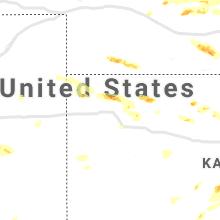 Regional Hail Map for Colby, KS - Friday, June 25, 2021