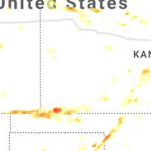 Regional Hail Map for Garden City, KS - Friday, June 25, 2021