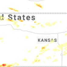 Regional Hail Map for Hays, KS - Friday, June 25, 2021