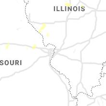 Regional Hail Map for Saint Louis, MO - Friday, June 25, 2021