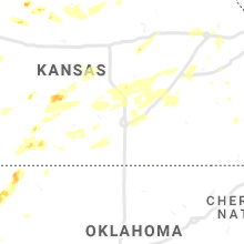 Regional Hail Map for Wichita, KS - Friday, June 25, 2021