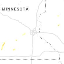 Regional Hail Map for Minneapolis, MN - Monday, June 28, 2021