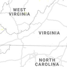 Regional Hail Map for Roanoke, VA - Monday, June 28, 2021