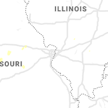 Regional Hail Map for Saint Louis, MO - Monday, June 28, 2021