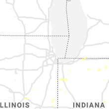 Regional Hail Map for Chicago, IL - Tuesday, June 29, 2021